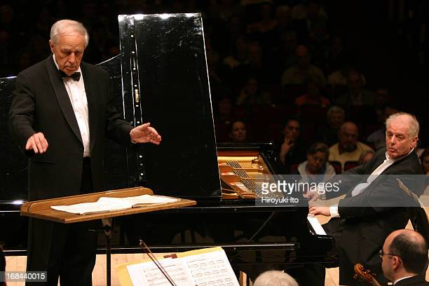 Pierre Boulez conducting Chicago Symphony Orchestra in allBartok program at Carnegie Hall on Saturday night May 14 2005This imagePierre Boulez...