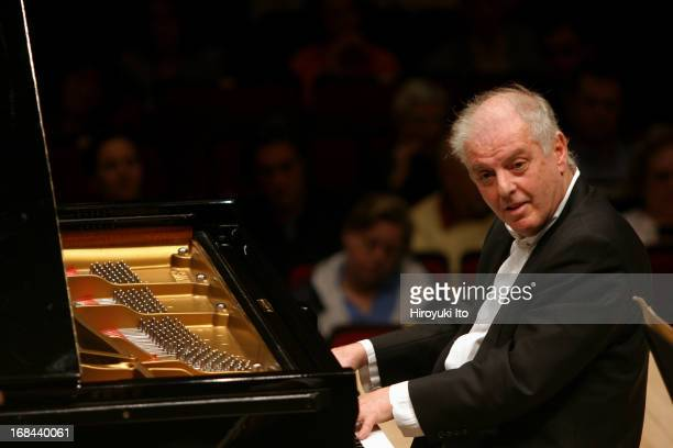 Pierre Boulez conducting Chicago Symphony Orchestra in allBartok program at Carnegie Hall on Saturday night May 14 2005This imageDaniel Barenboim is...
