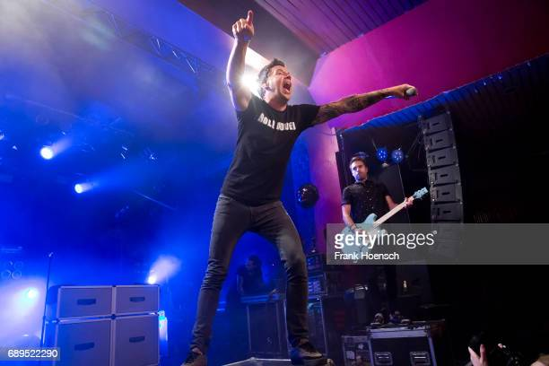 Pierre Bouvier and Sebastien Lefebvre of the Canadian band Simple Plan perform live on stage during a concert at the Astra on May 28 2017 in Berlin...
