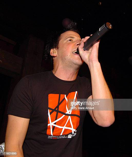 Pierre Bouvier during Simple Plan Album Release Party for 'Still Not Getting Any' October 27 2004 at Hiro Ballroom in New York City New York United...