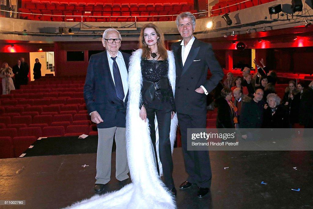 """""""Le Retour De Marlene Dietrich"""" : Theater Play At Espace Pierre Cardin In Paris"""