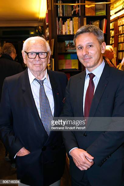 Pierre Cardin and President of Monnaie de Paris Christophe Beaux attend Princess Gloria Von Thurn und Taxis signs her Book 'The House of Thurn und...