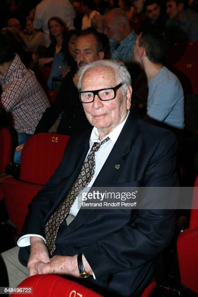 Pierre Cardin attends Sylvie Vartan Performs at L'Olympia on September 16 2017 in Paris France