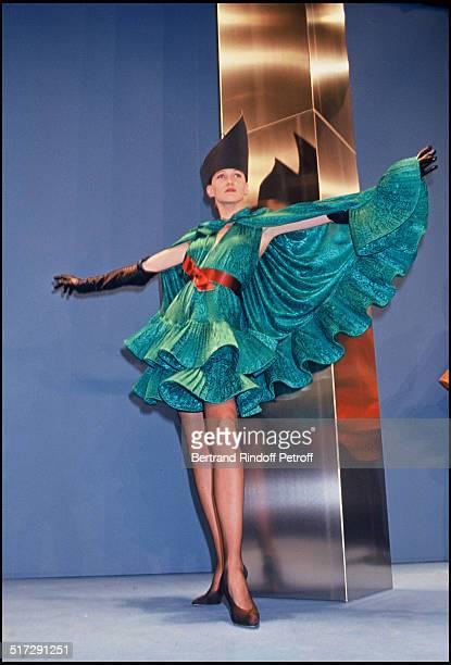 Pierre Cardin Haute Couture fashion show fall winter 19921993 collection in Paris