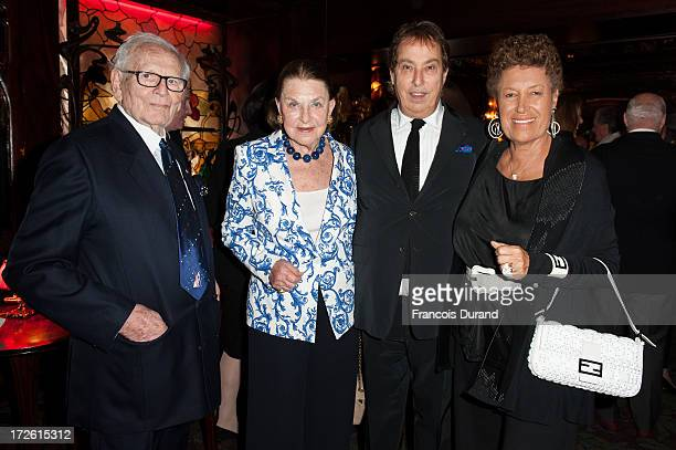 Pierre Cardin Princess JeanneMarie de Broglie Gilles Dufour and Carla Fendi attend the delivery of the medal of the 'Chevalier de l'Ordre des Arts et...