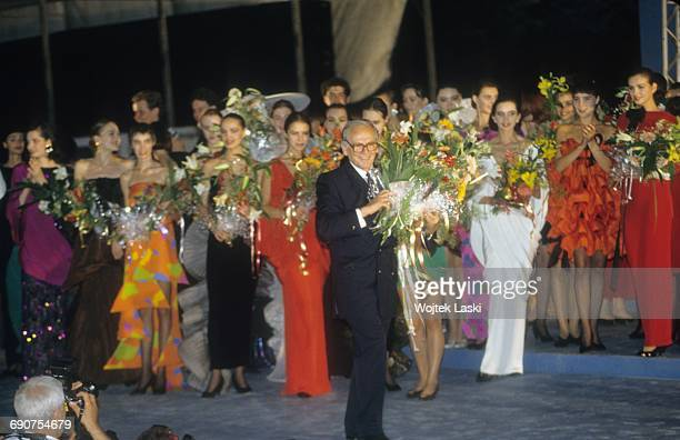 Pierre Cardin's fashion show at the Red Square in Moscow Russia in June 1991