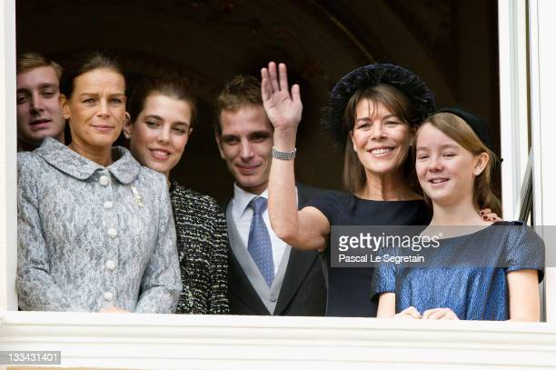 Pierre Casaraghi Princess Stephanie of Monaco Charlotte Casiraghi Andrea Casiraghi Princess Caroline of Hanover and Princess Alexandra of Hanover...