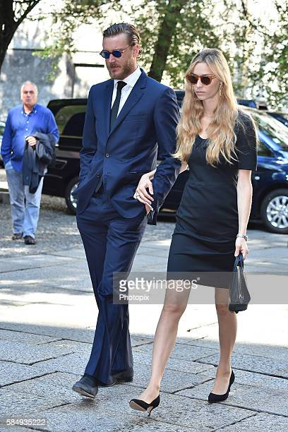 Pierre Casiraghi and Beatrice Borromeo arrive at Marta Marzotto funeral at church of Sant'Angelo on August 1 2016 in Milan Italy