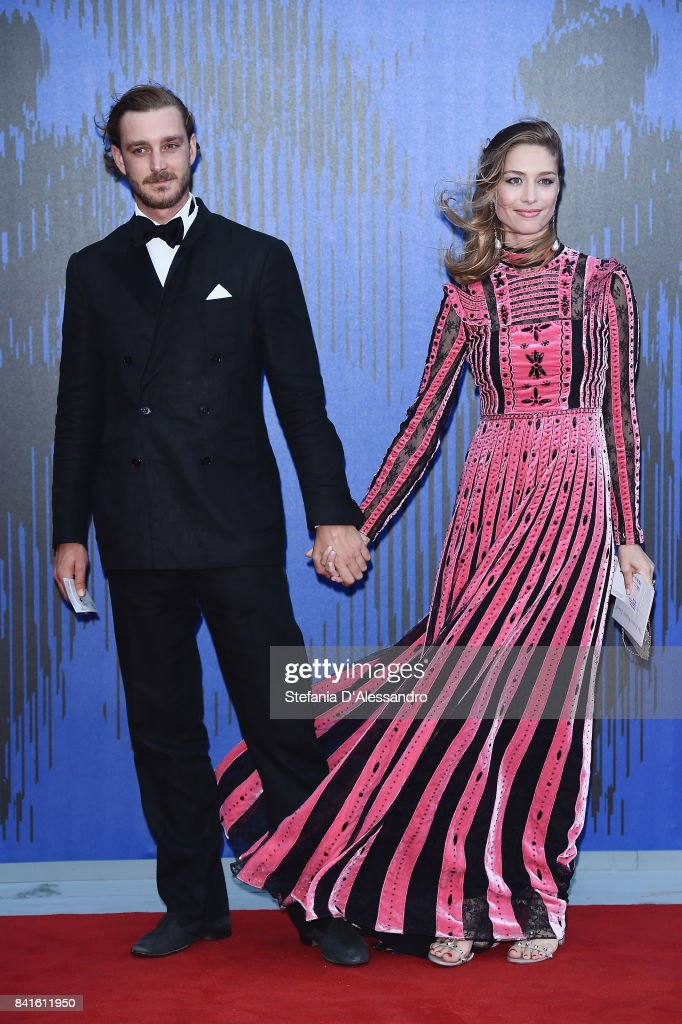 Pierre Casiraghi and Beatrice Borromeo attend the Franca Sozzanzi Award during the 74th Venice Film Festival on September 1, 2017 in Venice, Italy.