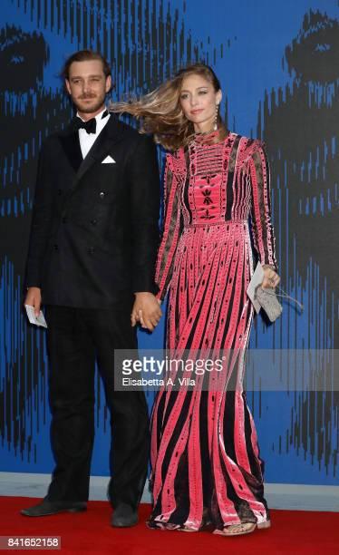 Pierre Casiraghi and Beatrice Borromeo attend the Franca Sozzanzi Award during the 74th Venice Film Festival on September 1 2017 in Venice Italy