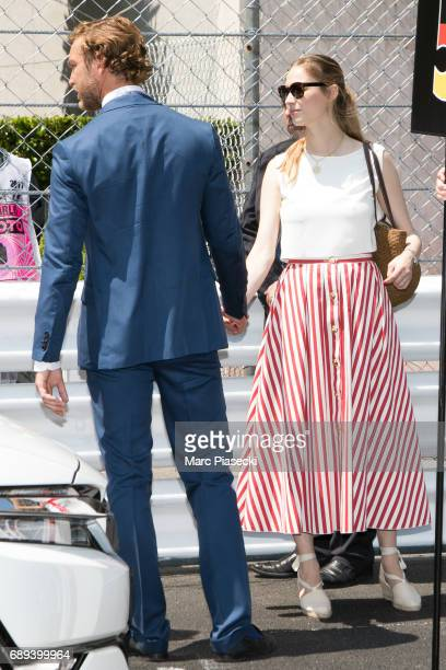 Pierre Casiraghi and Beatrice Borromeo attend the Monaco Formula 1 Grand Prix at the Monaco street circuit on May 28 2017 in Monaco