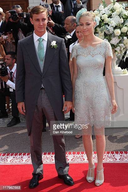 Pierre Casiraghi and Beatrice Borromeo attend the religious ceremony of the Royal Wedding of Prince Albert II of Monaco to Princess Charlene of...