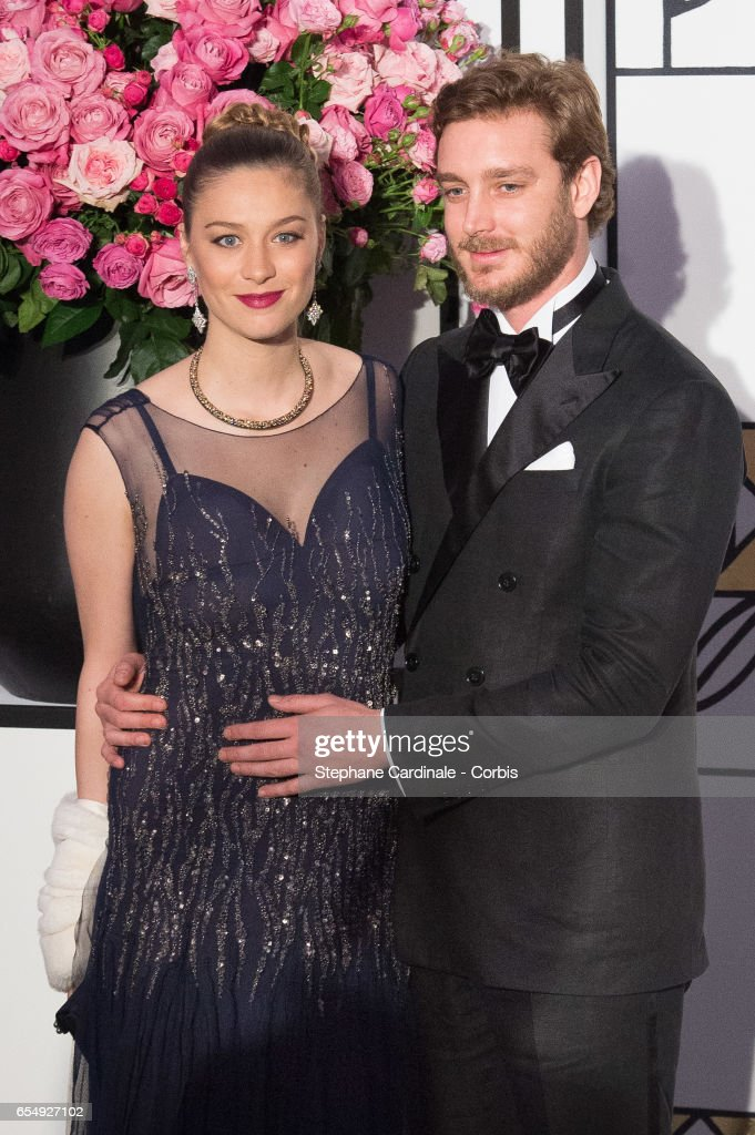 Pierre Casiraghi and Beatrice Borromeo attend the Rose Ball 2017 To Benefit The Princess Grace Foundation at Sporting Monte-Carlo on March 18, 2017 in Monte-Carlo, Monaco.