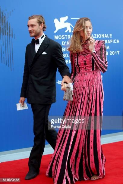 Pierre Casiraghi and Beatrice Borromeo attend the The 1st Franca Sozzani Award during the 74th Venice Film Festival at Sala Giardino on September 1...