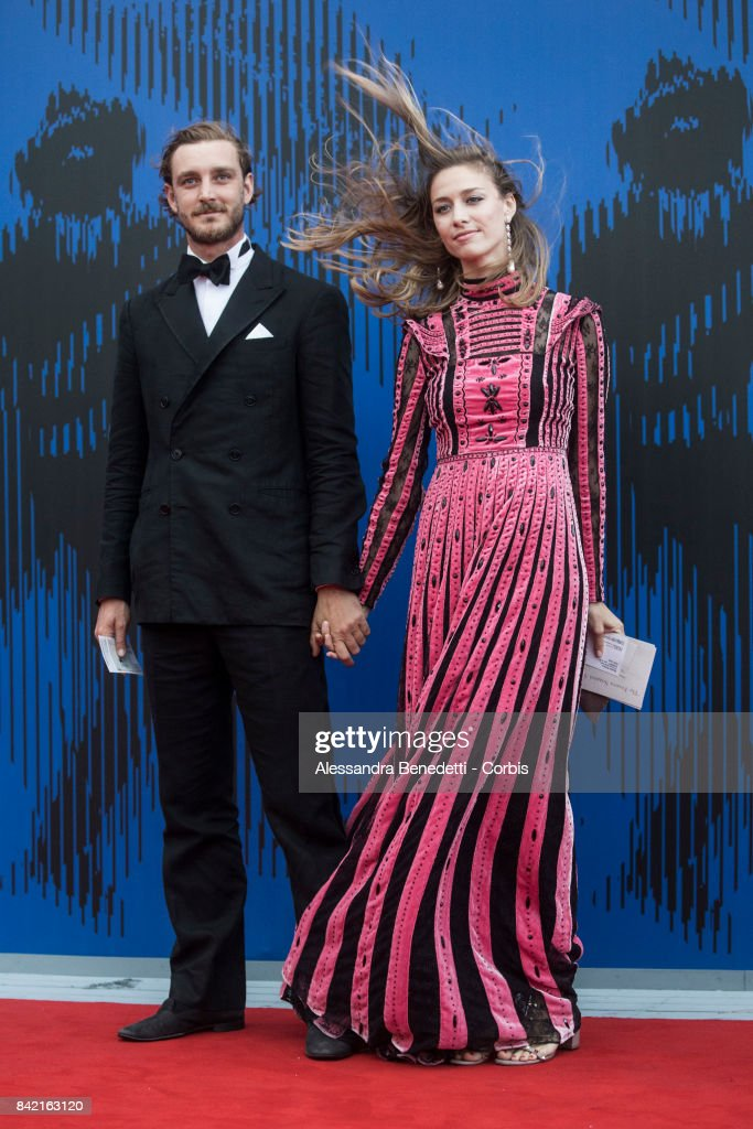 Pierre Casiraghi and Beatrice Borromeo attend the The Franca Sozzani Award during the 74th Venice Film Festival at Sala Giardino on September 1, 2017 in Venice, Italy.