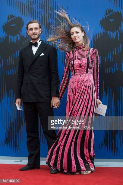 Pierre Casiraghi and Beatrice Borromeo attend the The Franca Sozzani Award during the 74th Venice Film Festival at Sala Giardino on September 1 2017...