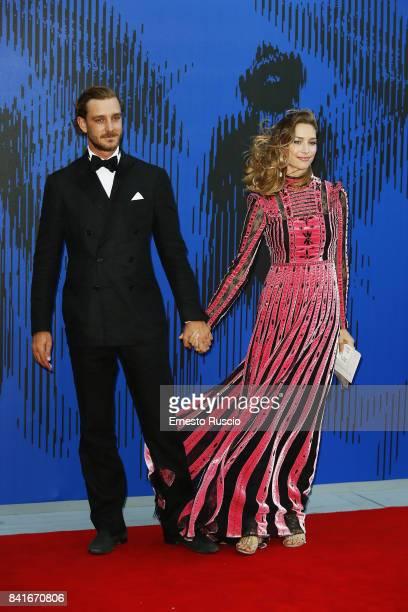 Pierre Casiraghi and Beatrice Borromeo attends the The 1st Franca Sozzani Award during the 74th Venice Film Festival at Sala Giardino on September 1...