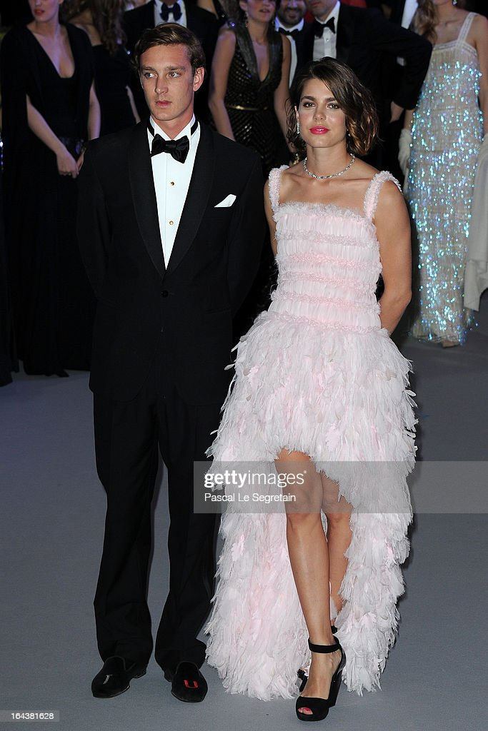 Pierre Casiraghi and Charlotte Casiraghi attend the 'Bal De La Rose Du Rocher' in aid of the Fondation Princess Grace on the 150th Anniversary of the SBM at Sporting Monte-Carlo on March 23, 2013 in Monte-Carlo, Monaco.