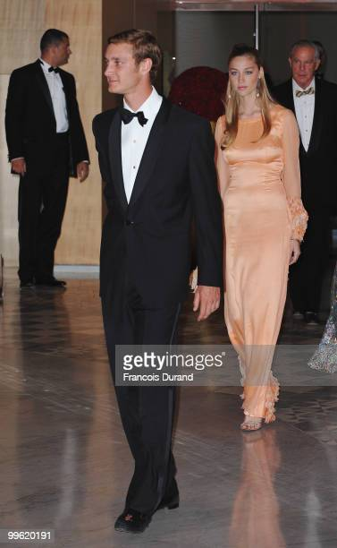Pierre Casiraghi and Countess Beatrice Borromeo arrive at the Monaco Formula One Grand Prix dinner at the Monte Carlo sporting on May 16 2010 in...
