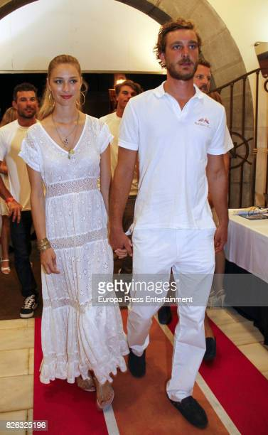 Pierre Casiraghi and wife Beatrice Borromeo attend dinner during the 36th Copa Del Rey Mafre Sailing Cup on August 3 2017 in Palma de Mallorca Spain