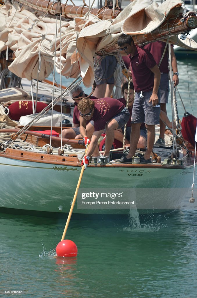 Pierre Casiraghi (L) attends Classic Sailing Week at Puerto Sherry on July 23, 2012 in Cadiz, Spain. Pierre will take part at the sailing on board of 'Tuiga' boat built at XIX Century and belonging to Prince Albert of Monaco