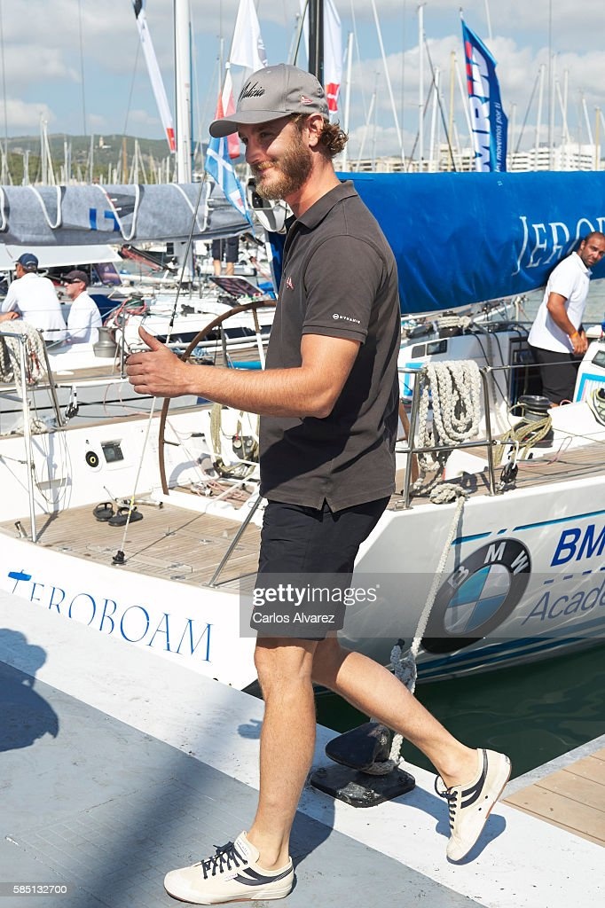 Pierre Casiraghi attends the 35th Copa Del Rey Mafre Sailing Cup on August 2, 2016 in Palma de Mallorca, Spain.