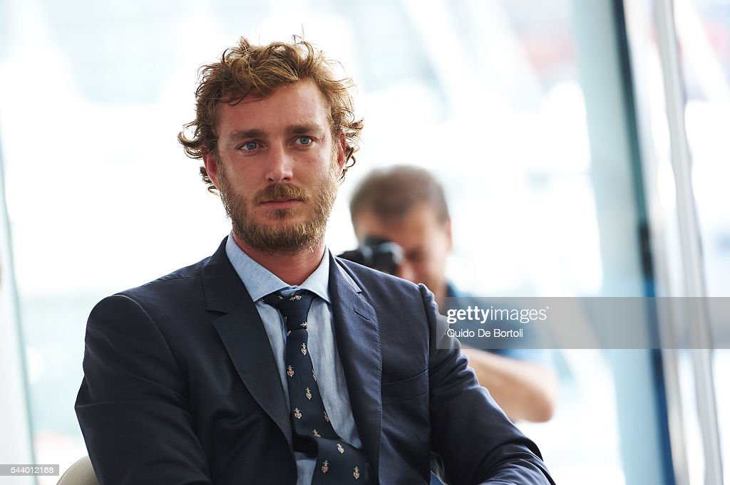 <a gi-track='captionPersonalityLinkClicked' href=/galleries/search?phrase=Pierre+Casiraghi&family=editorial&specificpeople=238946 ng-click='$event.stopPropagation()'>Pierre Casiraghi</a> attends the Maserati Multi70 press conference at YCM on June 29, 2016 in Monte-Carlo, Monaco.