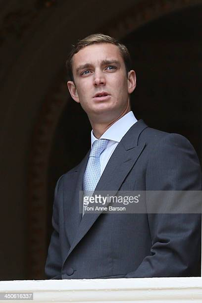 Pierre Casiraghi attends the National Day Parade as part of Monaco National Day Celebrations at Monaco Palace on November 19 2013 in MonteCarlo Monaco