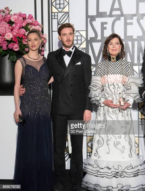 Pierre Casiraghi Beatrice Casiraghi and Princess Caroline of Hanover attend the Rose Ball 2017 Secession Viennoise To Benefit The Princess Grace...