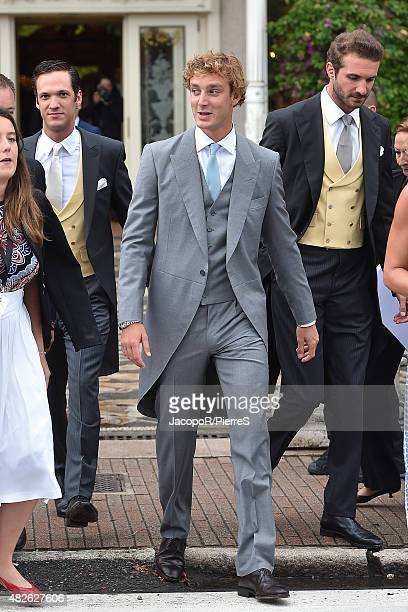 Pierre Casiraghi is seen on August 1 2015 in STRESA Italy