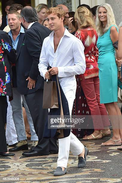 Pierre Casiraghi is seen on July 31 2015 in Stresa Italy