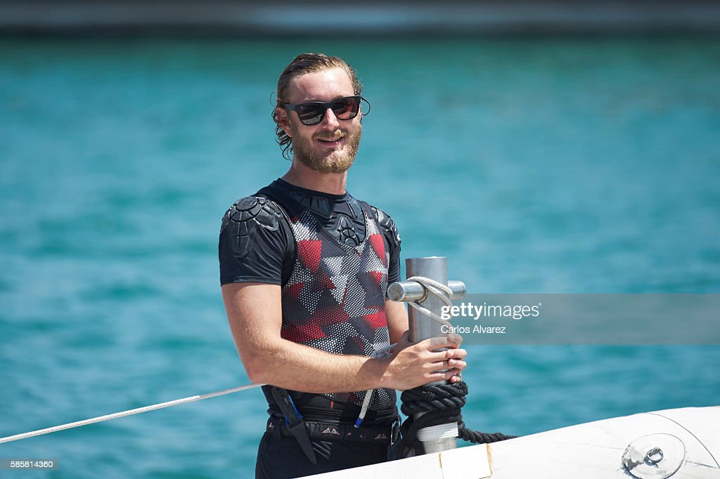 Pierre Casiraghi onboard Malizia during the 35th Copa Del Rey Mafre Sailing Cup on August 4, 2016 in Palma de Mallorca, Spain.