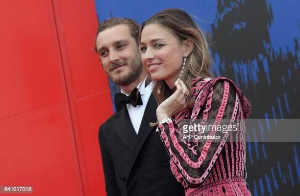Pierre Casiraghi son of Princess Caroline of Hanover and his wife Beatrice Borromeo attend the 'Franca Sozzani Award' during the 74th Venice Film...