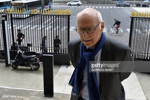 Pierre CornutGentille one of the lawyers of French photographer FrancoisMarie Banier arrives at the courthouse of Bordeaux southwestern France on May...