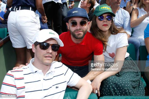 Pierre Deladonchamps Guilaume Gouix and Alyson Paradis attend the 2017 French Tennis Open Day Height at Roland Garros on June 4 2017 in Paris France