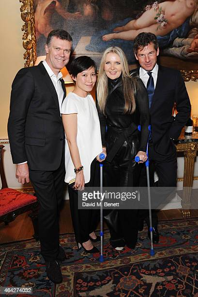Pierre Denis Sandra Choi Amanda Wakeley and Hugh Morrison attend the Creative London party hosted by the British Fashion Council and BPI at Spencer...