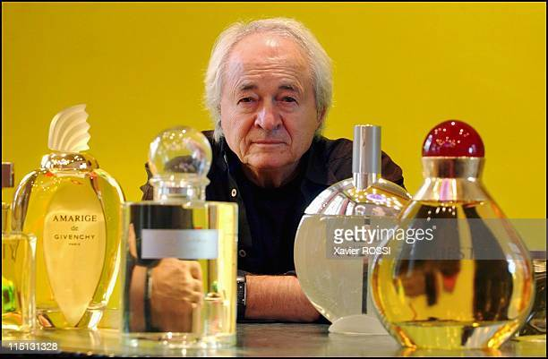 Pierre Dinand perfume bottles creator at home in France on September 11 2003