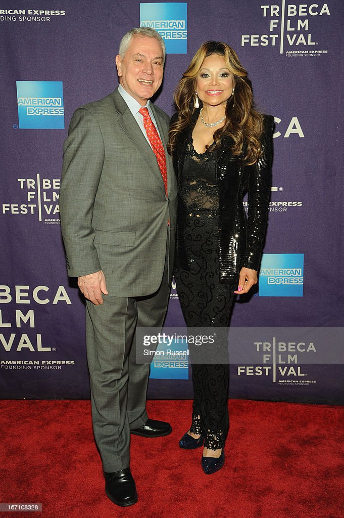 Pierre Dulaine and La Toya Jackson attend the 'Dancing In Jaffa' World Premiere at the AMC Loews Village 7 during the 2013 Tribeca Film Festival on April 20, 2013 in New York City.