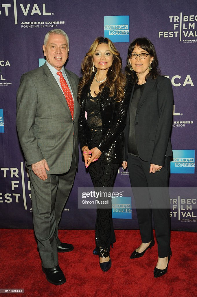 Pierre Dulaine, La Toya Jackson and Diane Nabatoff attend the 'Dancing In Jaffa' World Premiere at the AMC Loews Village 7 during the 2013 Tribeca Film Festival on April 20, 2013 in New York City.