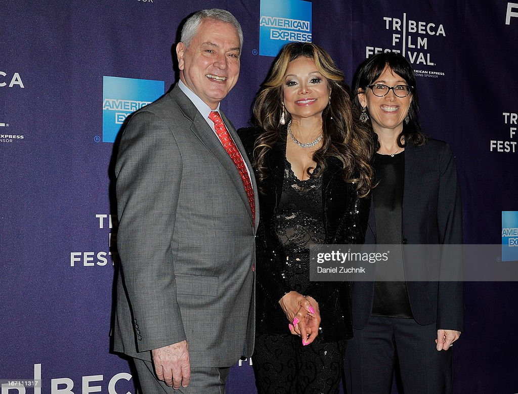 Pierre Dulaine, La Toya Jackson and Diane Nabatoff attend the screening of 'Dancing in Jaffa' during the 2013 Tribeca Film Festival at AMC Loews Village 7 on April 20, 2013 in New York City.