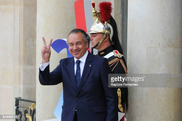 Pierre Durand during the reception of the CIO by the French President at Elysee Palais on September 15 2017 in Paris France