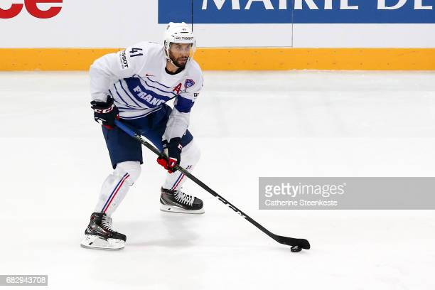 Pierre Edouard Bellemare of France in action during the 2017 IIHF Ice Hockey World Championship game between Canada and France at AccorHotels Arena...