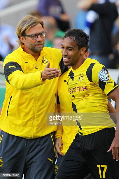 Pierre Emerick Aubameyang Borussia Dortmund Trainer Jürgen Juergen Klopp Borussia Dortmund DFB Pokal Fussball Stuttgarter KIckers Borussia Dortmund...