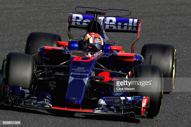 Pierre Gasly of France and Scuderia Toro Rosso drives in the Scuderia Toro Rosso STR12 on track during the Formula One Grand Prix of Japan at Suzuka...