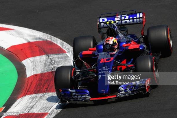 Pierre Gasly of France and Scuderia Toro Rosso drives in the Scuderia Toro Rosso STR12 on track during practice for the Formula One Grand Prix of...