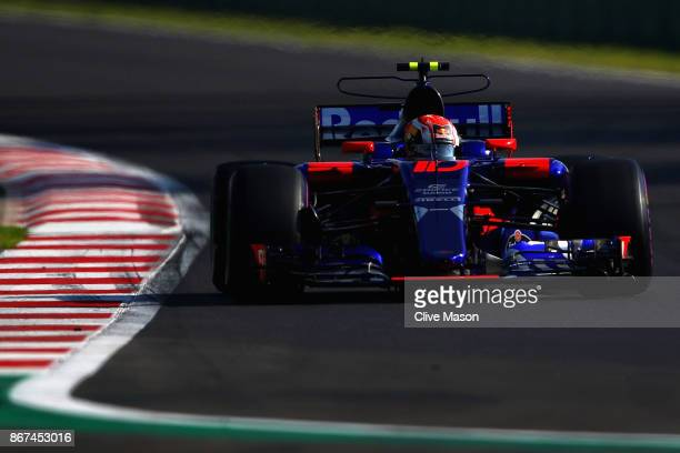 Pierre Gasly of France and Scuderia Toro Rosso drives in the Scuderia Toro Rosso STR12 on track during final practice for the Formula One Grand Prix...