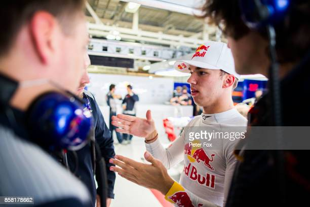 Pierre Gasly of Scuderia Toro Rosso and France during practice for the Formula One Grand Prix of Japan at Suzuka Circuit on October 6 2017 in Suzuka