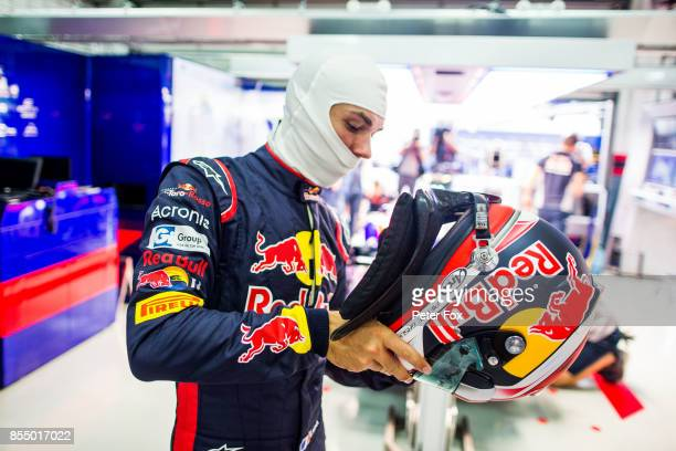 Pierre Gasly of Scuderia Toro Rosso and France during previews for the Malaysia Formula One Grand Prix at Sepang Circuit on September 28 2017 in...