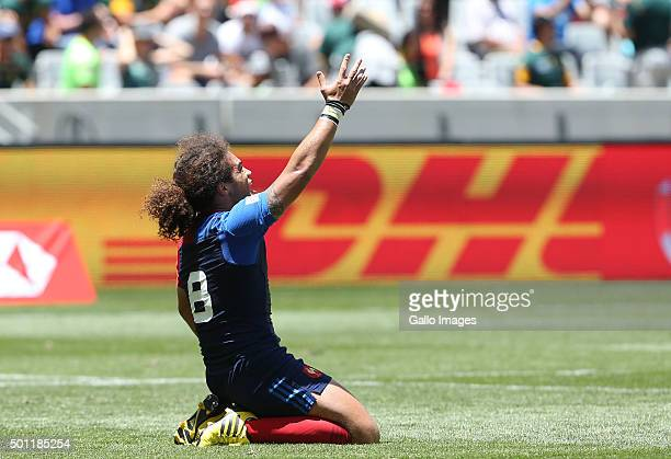 Pierre Gilles Lakafia of France during day 2 of the HSBC Cape Town Sevens in the game between Fiji and France at Cape Town Stadium on December 13...