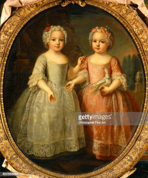 Pierre Gobert Portrait of Louise Elisabeth of France and Henriette of France Daughters of King Louis XV of France Oil on canvas 108 x 088 m...